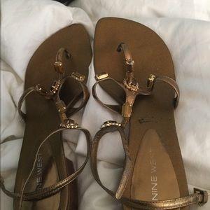 Nine West jeweled sandals size 8M